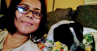 Nil with her dog Billie